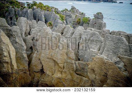 pancake rocks, greymouth, south island, new zealand