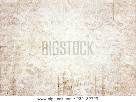 Old Grunge Newspaper Paper Texture Background. Blurred Vintage Newspaper Background. Aged Blur Paper