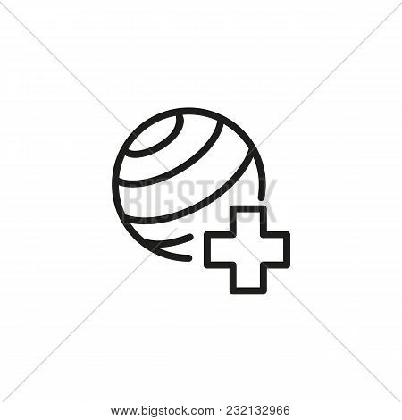 Icon Of Sports Doctor. Basketball, Practitioner, Healthcare. Medicine Concept. Can Be Used For Topic