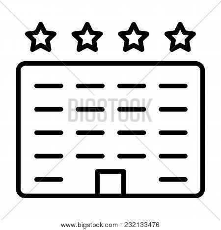 Hotel Line Icon.  96x96 For Web Graphics And Apps.  Simple Minimal Pictogram. Vector