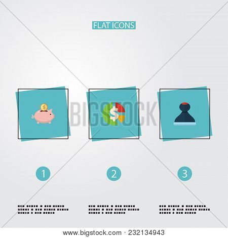 Set Of Registration Icons Flat Style Symbols With Stamp, Accumulation, Asset And Other Icons For You