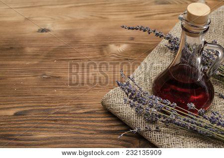 Herbal Medicine. Alternative Medicine Concept. Dry Organic Natural Ingridients. Healing Tincture Bev