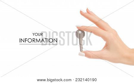 Key In Hand Pattern On White Background Isolation