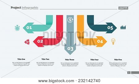 Five Arrow Infographic Diagram. Option Chart, Diagram, Infographics. Business Data. Creative Concept