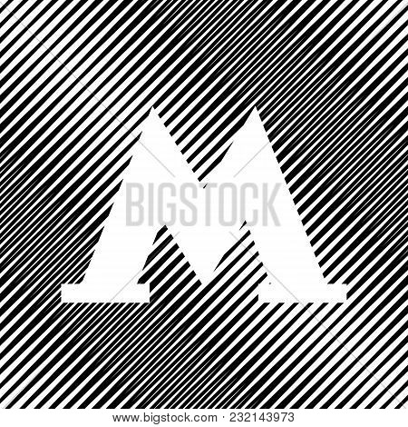 Metro Icon. Black Illustration Isolated On White Background For Graphic And Web Design. Vector. Icon