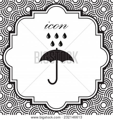 Vector Icon Umbrella On A Geometric Background Of Eps