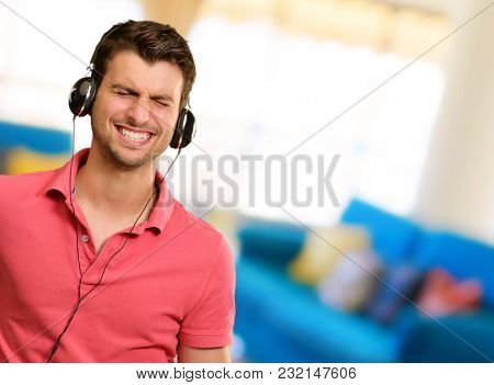 Young Man With Headphone, Indoor