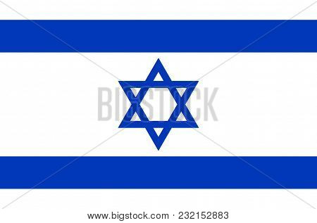 Israeli National Flag, Official Flag Of Israel Accurate Colors