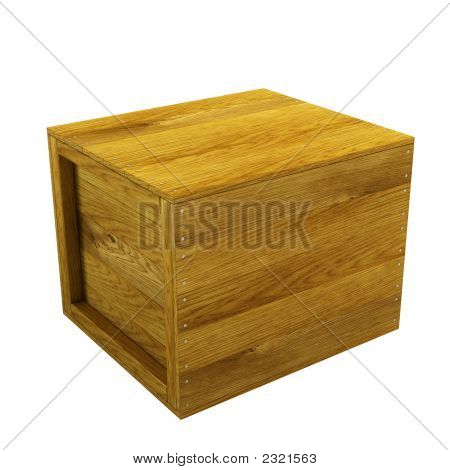 Isolated Wooden Crate