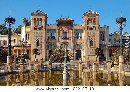 The Facade Of The Museum Of Art And Popular Customs (museo De Artes Y Costumbres Populares) - Sevill