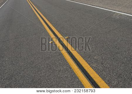 Center Of Highway Road Lines