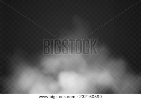 Fog Or Smoke Special Effect. White Cloudiness, Mist Or Smog, Explosion Background Isolated On Transp