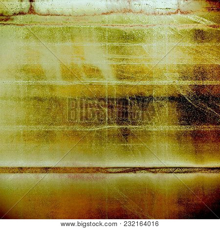 Vintage style background with ancient grunge elements. Aged texture with different color patterns