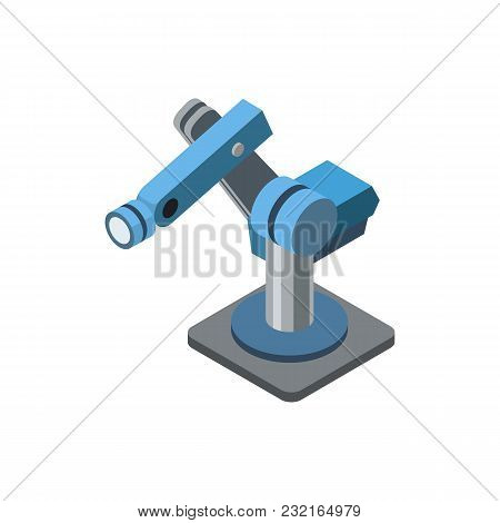 Engineering Isometric Arm Of Robot Fo Manufacturing Machines.