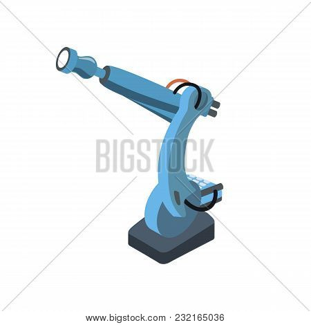 Isometric Blue Engineering Tool With Automatic System On White.