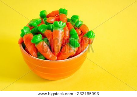 Sweet Easter carrot candies.