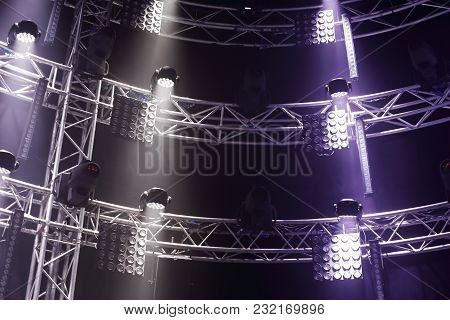 Moving Heads And Another Modern Stage Light Equipment.