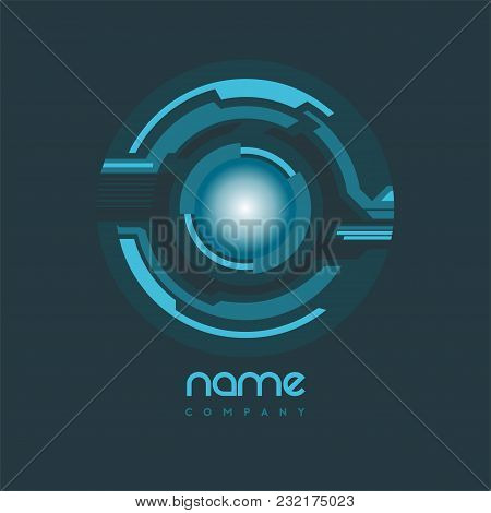 Technology Web Rings Logo Design. Vector Circle Ring Logo Design. Abstract Circle Logo Template. Rou