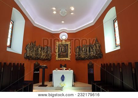ZAGREB, CROATIA - MARCH 31: Chapel of Saint Dismas in Zagreb, Croatia on March 31, 2015
