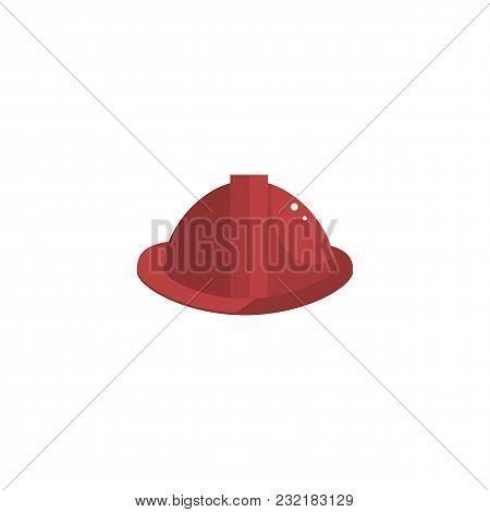 Professional Fireman Headwear Icon Cartoon Style Vector Illustration