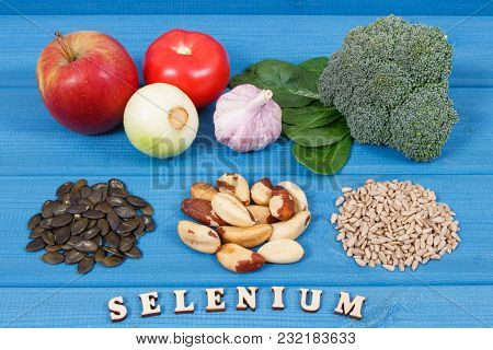 Ingredients Or Products Containing Selenium And Dietary Fiber, Natural Sources Of Minerals, Healthy