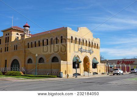 Waco, Texas - March 19, 2018: Dr Pepper Museum And Free Enterprise Institute. The Museum Is Dedicate