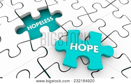 Hope for the Hopeless Puzzle Piece 3d Illustration