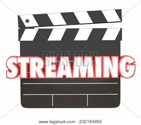 Streaming Movies Films Watch Wi-Fi Wireless Viewing 3d Illustration