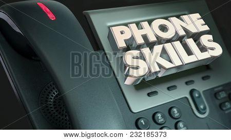 Phone Skills Telephone Calling Communication 3d Illustration