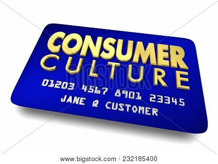 Consumer Culture Credit Card Shopping 3d Illustration