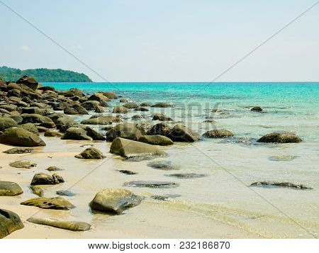 Crystal Clear Water On A Sunny Day In Koh Kood Island, Thailand