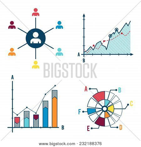 Set Abstract Infographic Elements Concept With Stage And Parts Elements. Data Infographic Chart. Tim