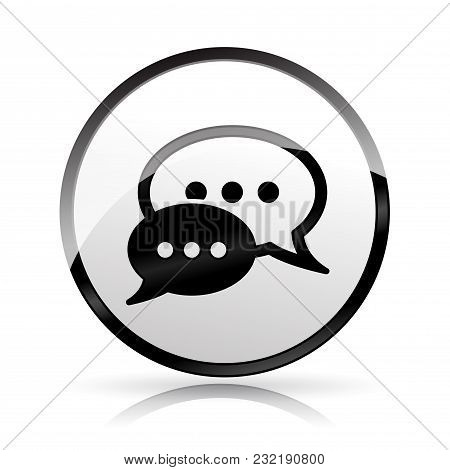 Illustration Of Speech Icon On White Background