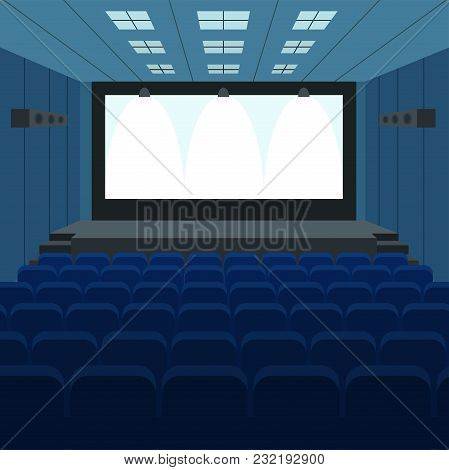 Theater Stage With Curtains And Spotlights Theatrical Scene In Light Searchlights Interior Old Opera