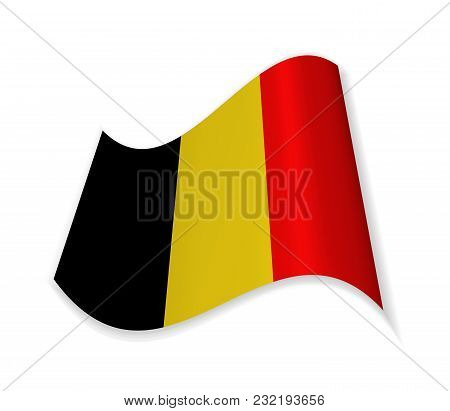 The Flag Of Belgium. Country In Western Europe. Vector Illustration.