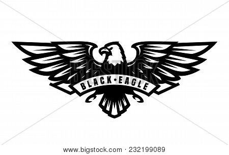 Black Eagle Logo, Symbol, Emblem Vector Illustration
