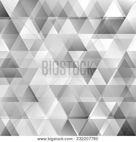 Gradient Abstract Polygonal Triangle Background With Opacity Effect