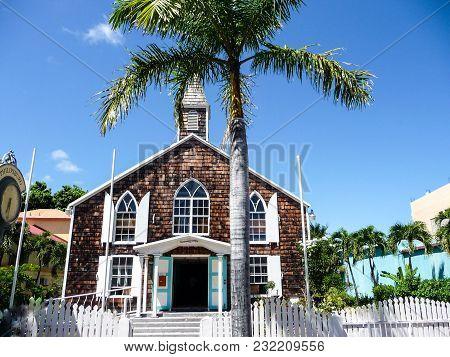 Methodist Church Philipsburg - St.maarten - In The Caribbean Sea