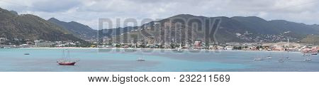 Cruise Terminal Philipsburg - St.maarten - View From A Cruise Ship To The Landscape Auf St.maarten I