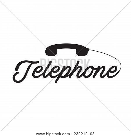 Telephone Black Phone White Background Vector Image