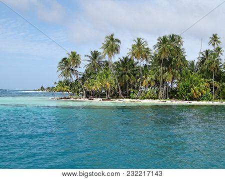 Beautiful Island With A Beautiful Beach With Turquoise Water Panama