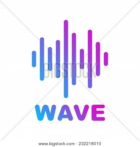 Sound And Audio Waves. Logotype Of Music And Audio Theme