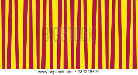 Abstract Vertical Striped Pattern. Yellow And Red Print. Background For Wallpaper, Web Page, Surface