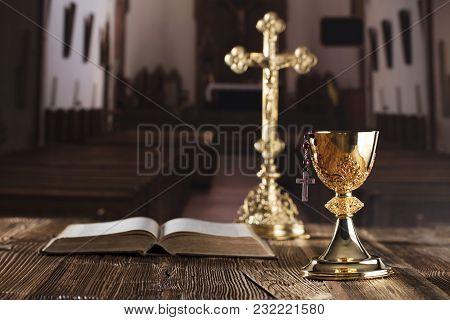 Holy Communion. Catholic Theme. Catholic Holidays - Easter.