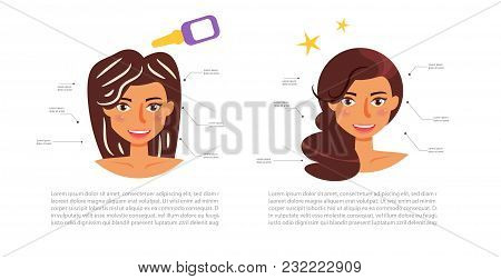 Hair Mask. Vector. Cartoon. Isolated Art On White Background Flat