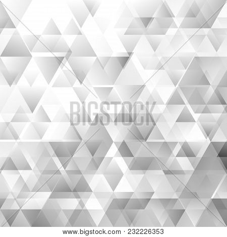 Geometrical Abstract Gradient Triangle Pattern Background - Vector Graphic Design