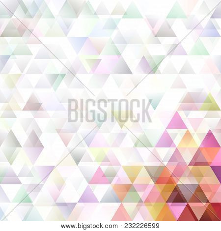 Retro Abstract Double Triangle Polygon Background - Vector Design
