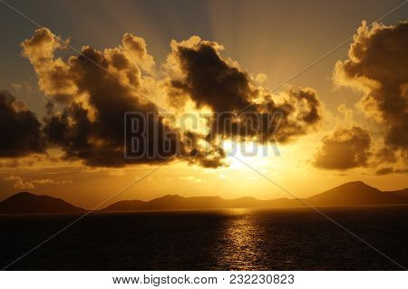 Impressions Of The Landscape From St.kitts Nevis Small Antilles