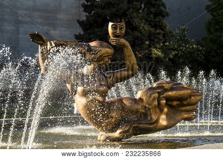 Fountain Muse, Opera And Ballet Theater, The City Of Dnepr, Ukraine.