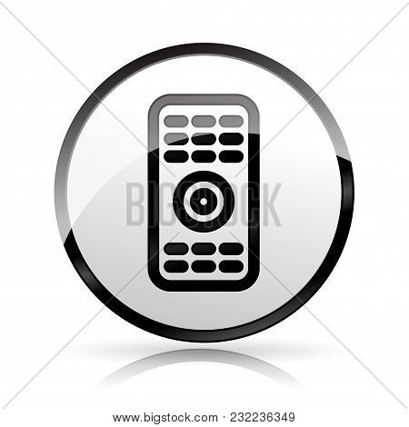 Illustration Of Remote Control Icon On White Background